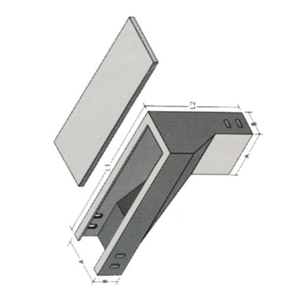 槽式垂直左上彎通 XLE-C-05C