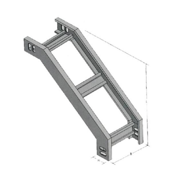 梯级式垂直凸弯通 XLE-T1-05B